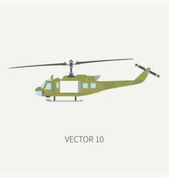 Plain flat color icon military turboprop vector