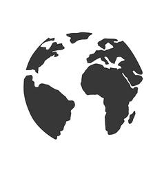 planet globe icon vector image vector image