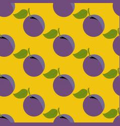 plum seamless pattern vector image vector image
