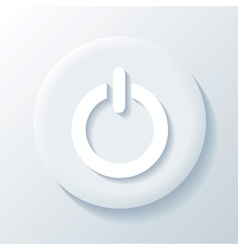 Power 3D Paper Icon vector image vector image