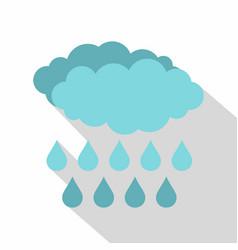 Rain icon flat style vector
