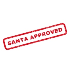 Santa Approved Rubber Stamp vector image