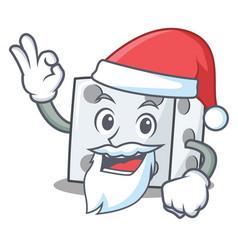Santa dice character cartoon style vector