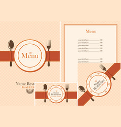 set of design elements for a cafe or restaurant vector image vector image