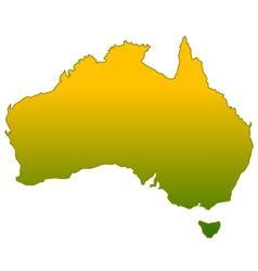 Silhouette of Australia vector image vector image