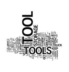 The organized tool box text background word cloud vector