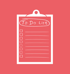 To do list icon with hand drawn text checklist vector