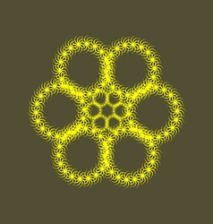 Yellow flower vector