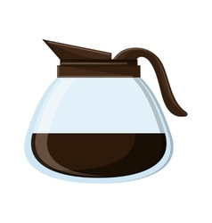 Isolated coffee pot design vector image