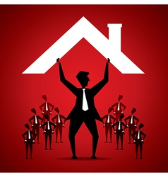 Businessman with house vector