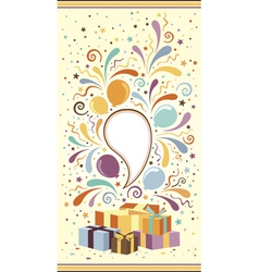 Celebration banner with gift boxes vector
