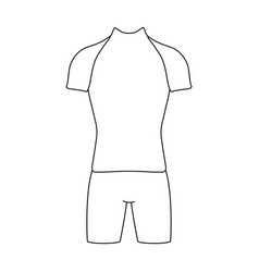 a cycling suit for riding a bicycle clothes vector image