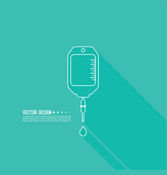 Iv bag icon vector