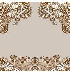 Original ornamental floral vintage template vector