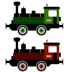 Steam train locomotive vector