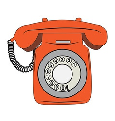 Retro phone vector