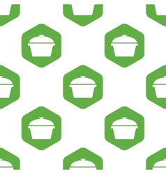 Pan with lid pattern vector