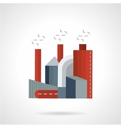 Environment pollution flat icon vector