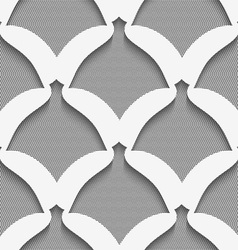 White simple shapes on gray textured pattern vector