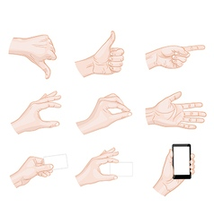 Business hand gestures vector