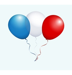Balloons in blue white red as france national flag vector