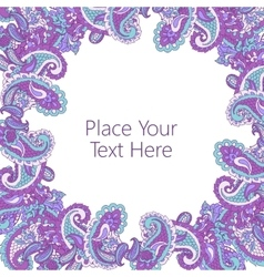 Abstract paisley frame vector