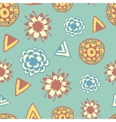 Vintage seamless pattern with hand drawn doodle vector