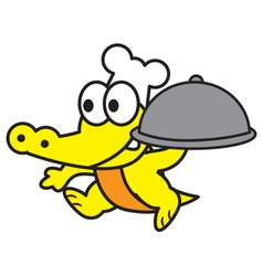 Chef crocodile vector