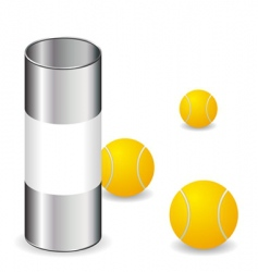 tennis balls with can vector image