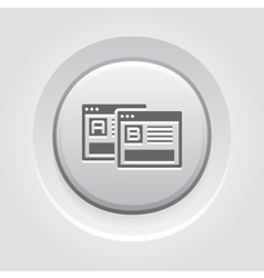 Ab testing icon grey button design vector