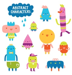 Abstract characters collection vector image vector image