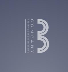 Alphabet letter B logo icon design vector image vector image