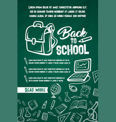 back to school lesson supplies posters vector image vector image