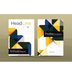 Business company profile brochure template vector