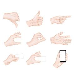 business hand gestures vector image vector image
