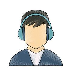Call center man avatar vector