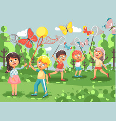 Cartoon character children vector