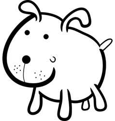 cute dog for coloring book vector image vector image