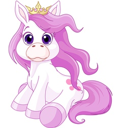 Cute horse princess vector