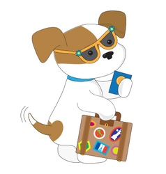 Cute puppy travel vector
