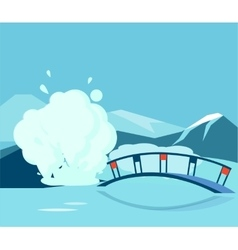 Geyser and the bridge vector