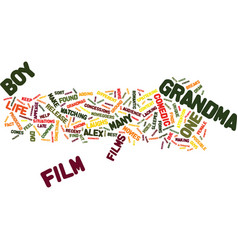 Grandmas boy packed with laughs text background vector
