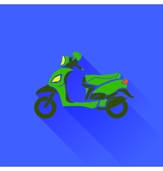 Green scooter silhouette vector