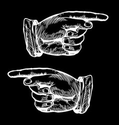Hands Pointing to the Left and Right vector image