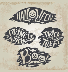 Happy halloween calligraphy backgrounds vector