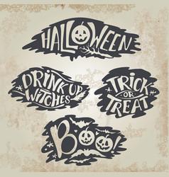 happy halloween calligraphy backgrounds vector image
