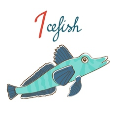 I is for Icefish vector image vector image