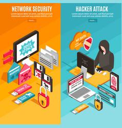 internet hacker banners vector image