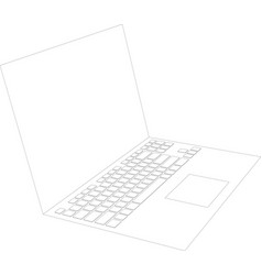 laptop sketch vector image vector image