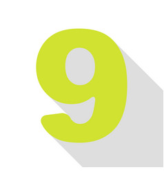 Number 9 sign design template element pear icon vector